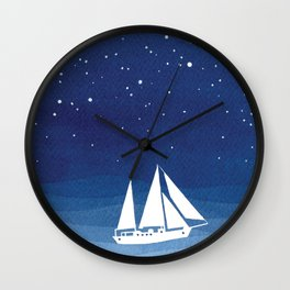 big dipper, sailboat Wall Clock