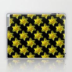 Daffodil On Black Laptop & iPad Skin