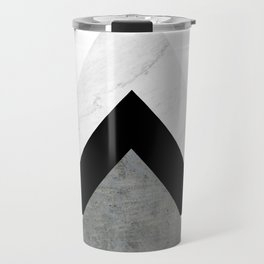 Arrows Monochrome Collage Travel Mug