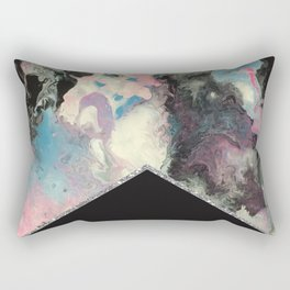 Marbled Solid Silver Rectangular Pillow