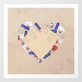 Write Postcards Collect Friends Art Print