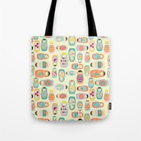 russia Tote Bags featuring Russia by LaPenche