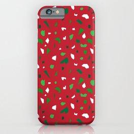 Christmas Terrazzo iPhone Case