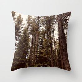 Lake Tahoe Trees Throw Pillow
