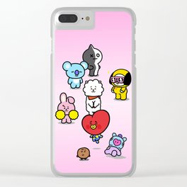 BTS BT21 Characters Clear iPhone Case