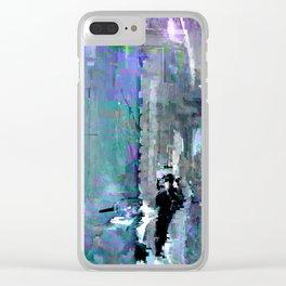 glitch cloud 7. Clear iPhone Case