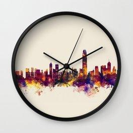 Hong Kong Skyline Wall Clock