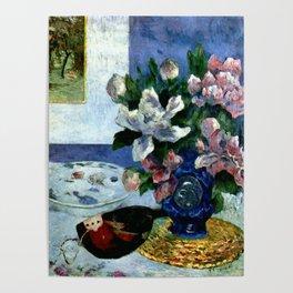 """Paul Gauguin """"Still Life with a Mandolin"""" Poster"""