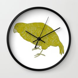 Kakapo Says Hello! Wall Clock