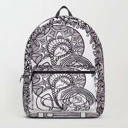 Theotokos and Youth Under Grape Vines Backpack