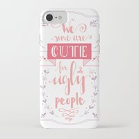 lettering iPhone & iPod Cases featuring Lettering - Juno by aysenur