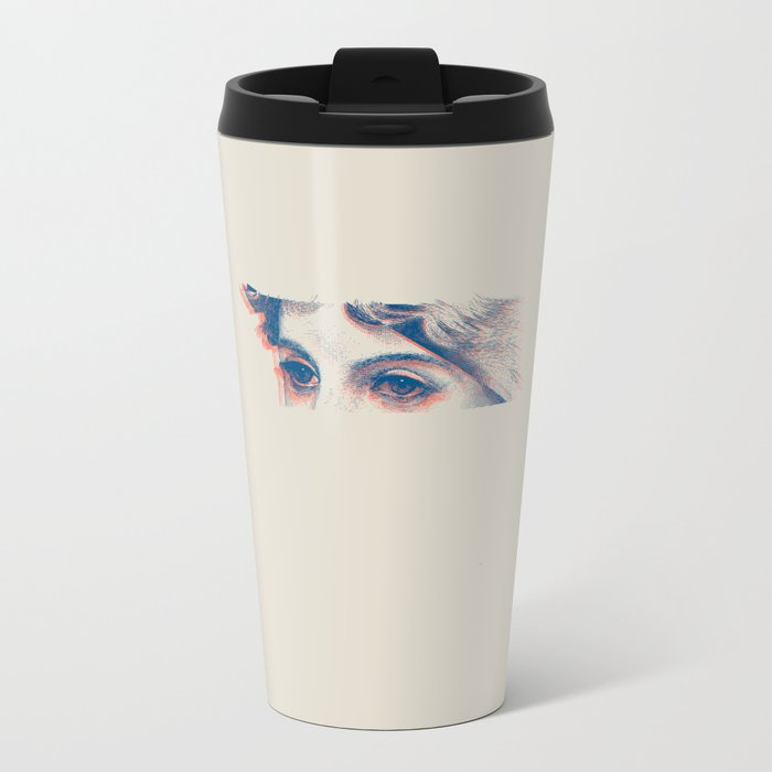 Stares to Nowhere Metal Travel Mug