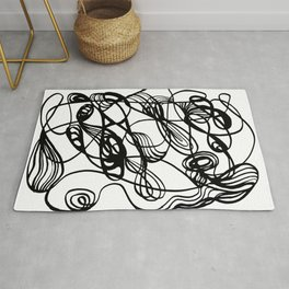 Flowing Lines of Chaos Rug