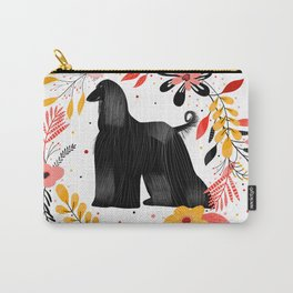 Afghane Sighthound in black Carry-All Pouch