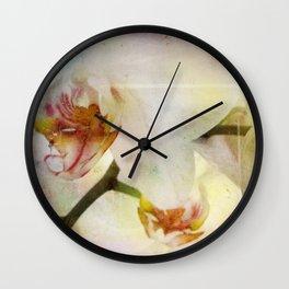 White Phalaenopsis Orchid Wall Clock