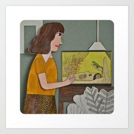 Lizard is my Friend  Art Print