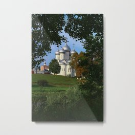 Landscape with Saint Sophia Cathedral in Vologda Metal Print
