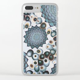Ombre Succulents Clear iPhone Case