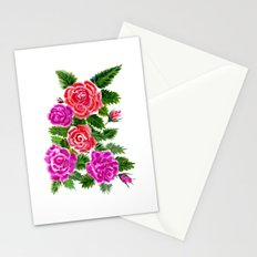 Watercolor Roses Bouquet Stationery Cards