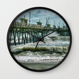 Surge Under The Pier Wall Clock