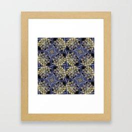 Yellow Flowers and Dark Blue Garden, Yellow Dill Framed Art Print