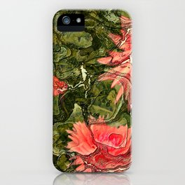 Pink flowers by Lika Ramati iPhone Case