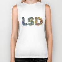lsd Biker Tanks featuring Simply LSD by Teo Sharkson