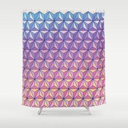 Geodesic Pattern Shower Curtain
