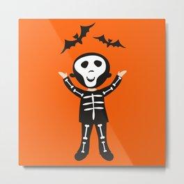 skeleton boy Metal Print
