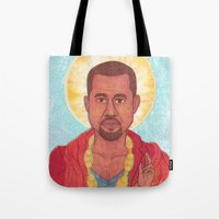 rap Tote Bags featuring Rap God by Ashley Ross