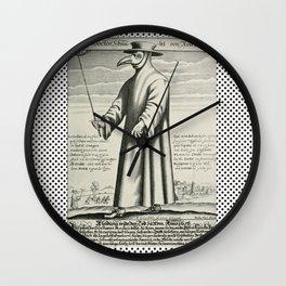 Doctor PEST/PLAGUE/BLACK DEATH Wall Clock