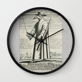 Doctor PEST/PLAGUE/BLACK DEATH Wall Clock