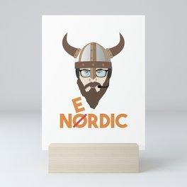 Nerdy Viking Mini Art Print