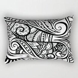 Trumpeting Tangle Rectangular Pillow
