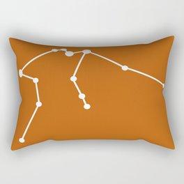 Aquarius (White & Bronze) Rectangular Pillow