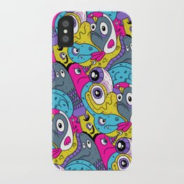 Idiot Bird Pattern iPhone Case