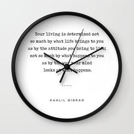 Kahlil Gibran Quote 04 - Typewriter Quote - Minimal, Modern, Classy, Sophisticated Art Prints Wall Clock