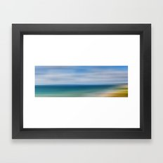 Poole Bay Abstract Framed Art Print