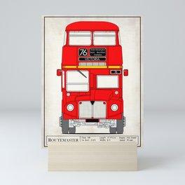The Routemaster London Bus Mini Art Print