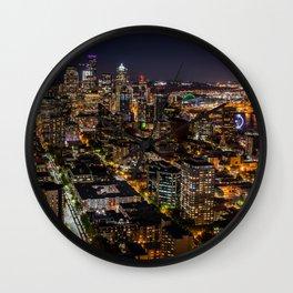 Seattle Nights Wall Clock