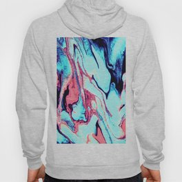 Turquoise Blue Rose Marble Background Hoody