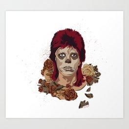 Ziggy de los Muertos Art Print