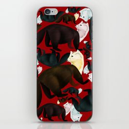 Marten tropical pattern Red iPhone Skin