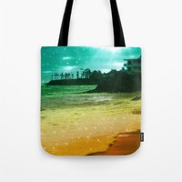 Tote Bags featuring Counting stars ii by haroulita