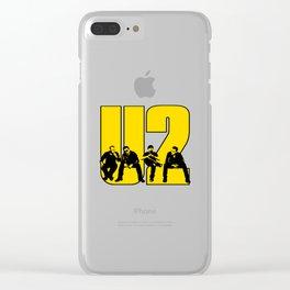 2U2_3 Clear iPhone Case
