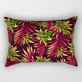 Aechmea Fasciata - Green/Pink Rectangular Pillow