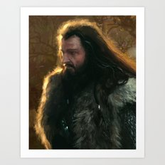 King Under the Mountain Art Print