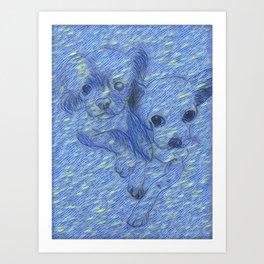 Starry Nights & Best Friends Art Print