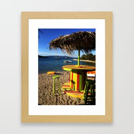 Beachbarumbrella Framed Art Print