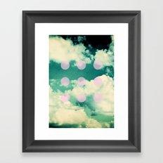 Clouds + Dots Framed Art Print